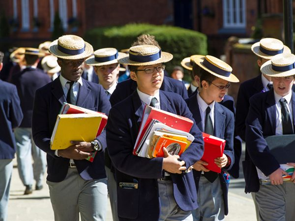 Harrow schoolboys